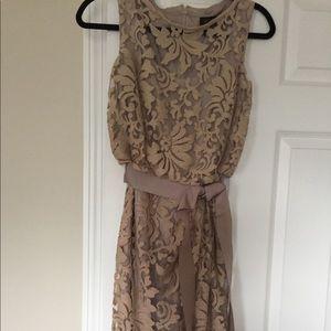 Tadashi Shoji Tan Dress! Size 2